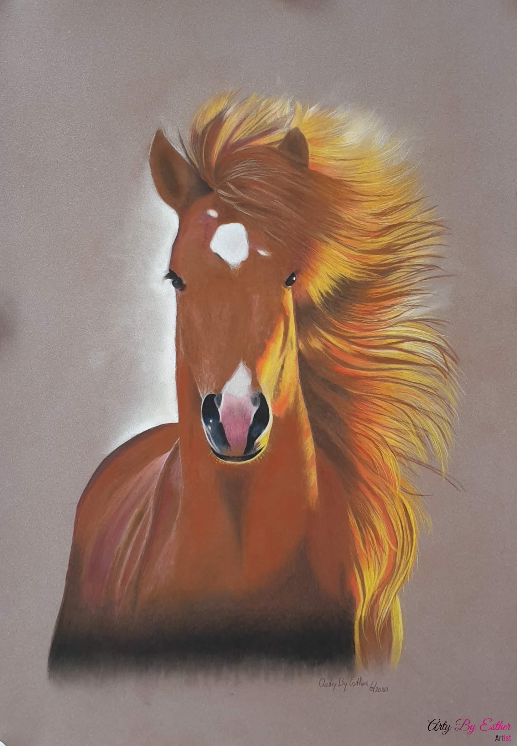 Pastelpainting Horse