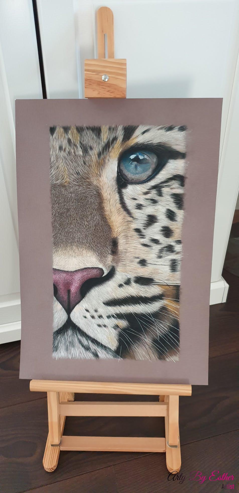cheetah pastelpainting wildlife