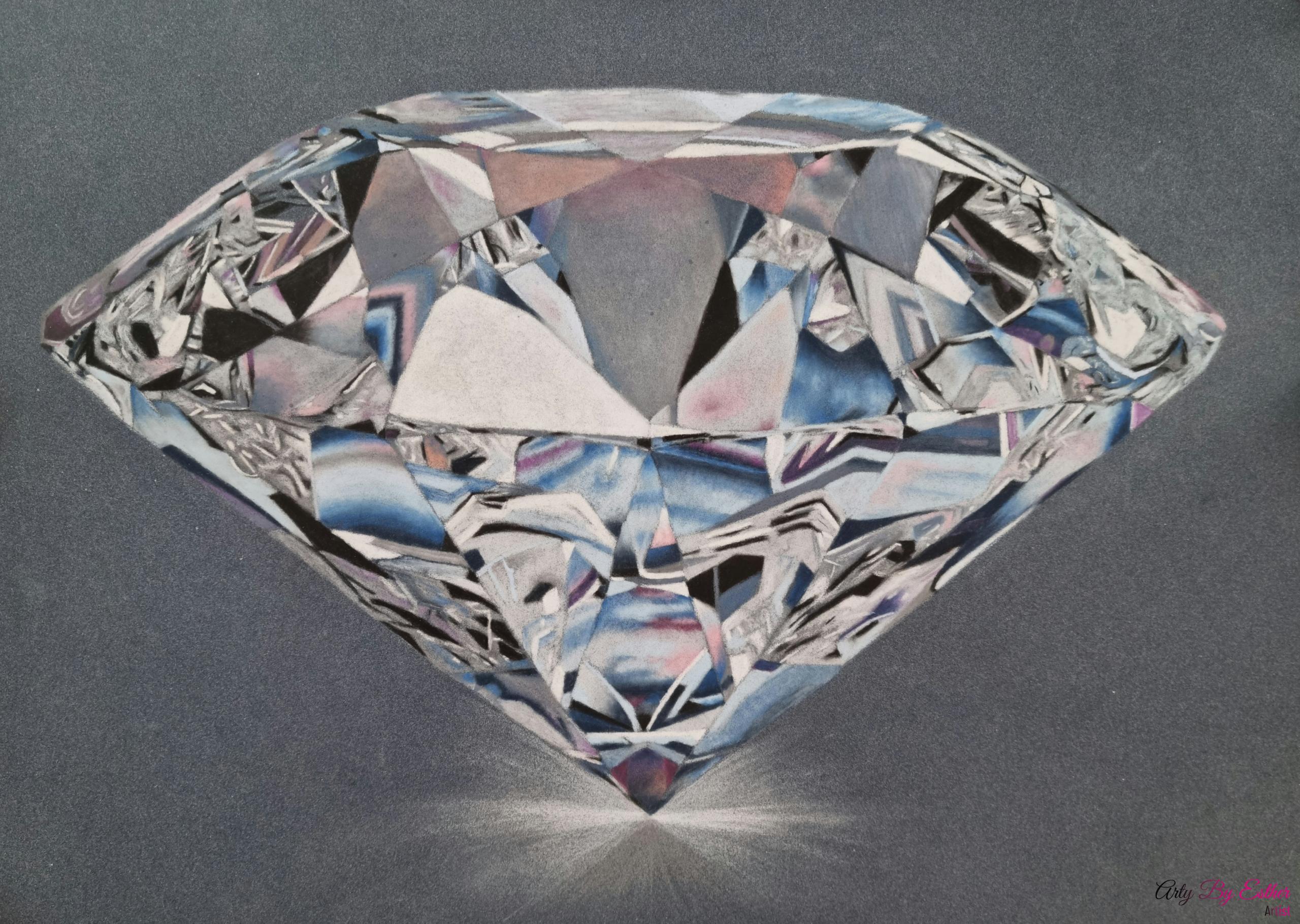 Diamond pastelpainting